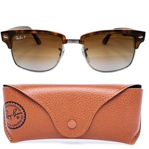 Ray Ban Clubmaster Tortoise Frame Sunglasses